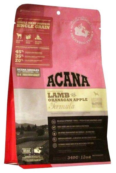 Корм для собак Acana Singles ягненок с яблоком 340г