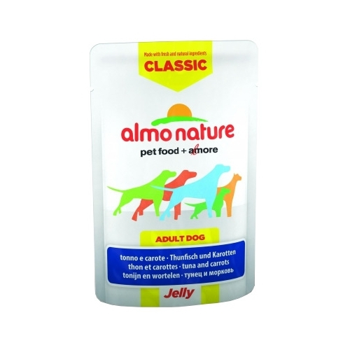 Almo Nature (0.07 кг) 1 шт. Classic Adult Dog Tuna and Carrots - Jelly Корма для собак