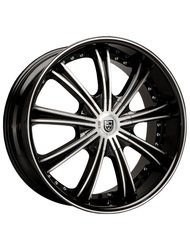 Lexani 8,5x20/5x112 ET35 D74,1 LX19 Black/Machined/Chrome Lip - фото 1