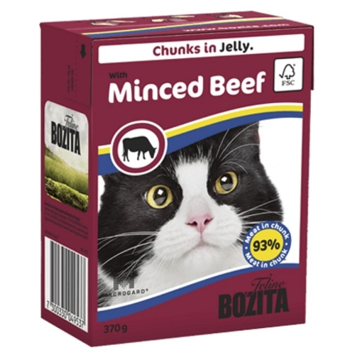 Корм для кошек Bozita Feline chunks in jelly with Minced Beef (0.37 кг) 1 шт.