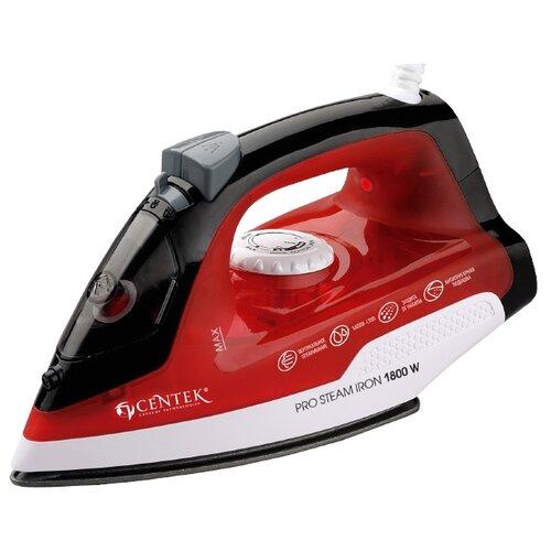 Утюг CENTEK CT-2347 красный/черный/белый миксер centek ct 1135 белый красный