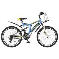 """Подростковый горный (MTB) велосипед Stinger Highlander 100V 24 (2017) синий 16.5"""" (требует финальной сборки)"""