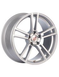 Диски 1000 Miglia MM1002 8,5x19 5x120 D72.6 ET33 цвет Matt Silver Polished - фото 1
