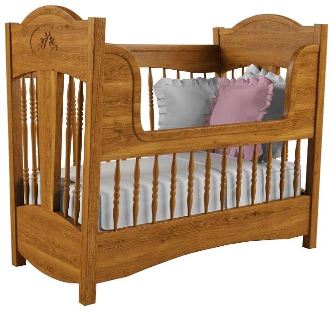 Кроватка Nom du Bebe Классика (стандартная, + низкий бортик, дуб) (классическая)