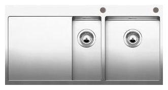 Интегрированная кухонная мойка Blanco Claron 6S-IF 100х51см нержавеющая сталь