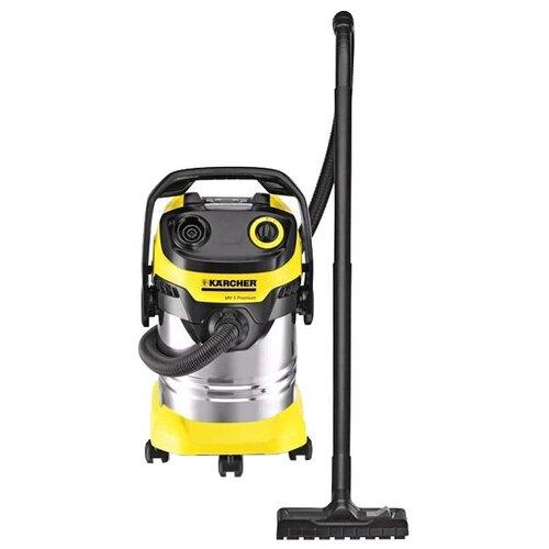 Строительный пылесос KARCHER WD 5 Premium 1100 Вт черный/желтый/серебристый