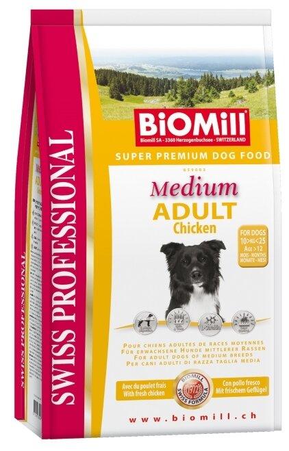 Корм для собак Biomill Swiss Professional Medium Adult Chicken (12 кг)
