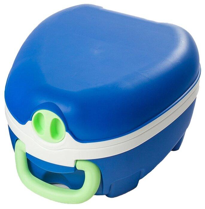 My Carry Potty горшок blue & white potty