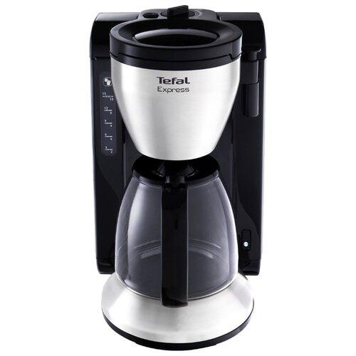 Кофеварка Tefal CM390811 Express черный/серебристый тостер tefal tt330d30 серебристый черный