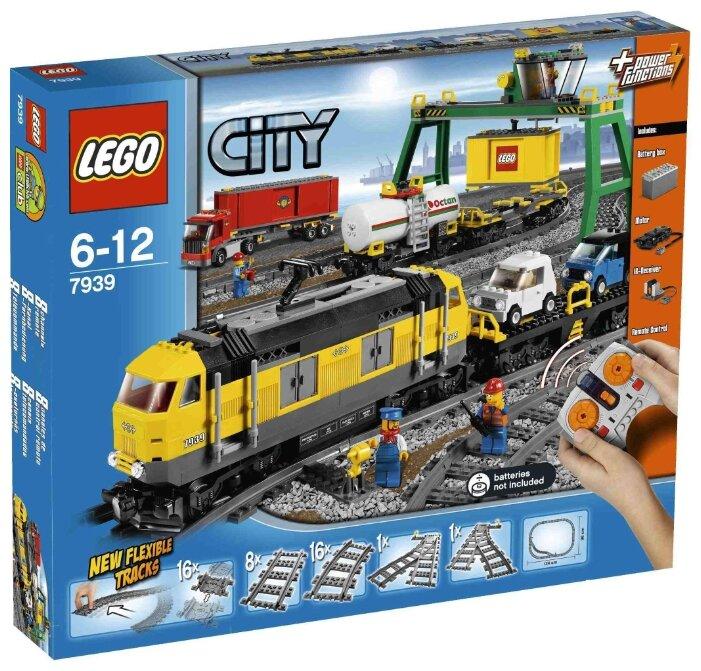Электромеханический конструктор LEGO City 7939 Грузовой поезд