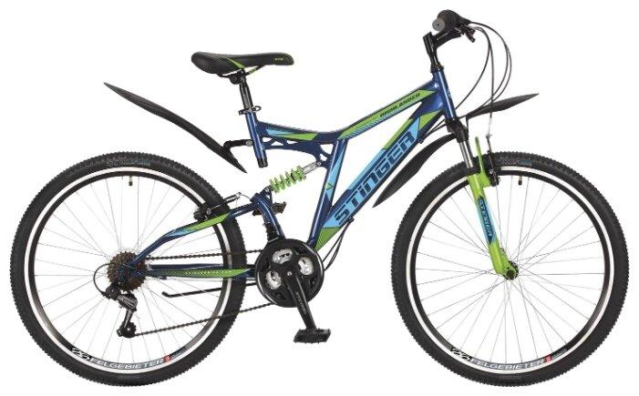 Велосипеды Двухподвесы Stinger Highlander 100V 26 (2017) 18 ростовка
