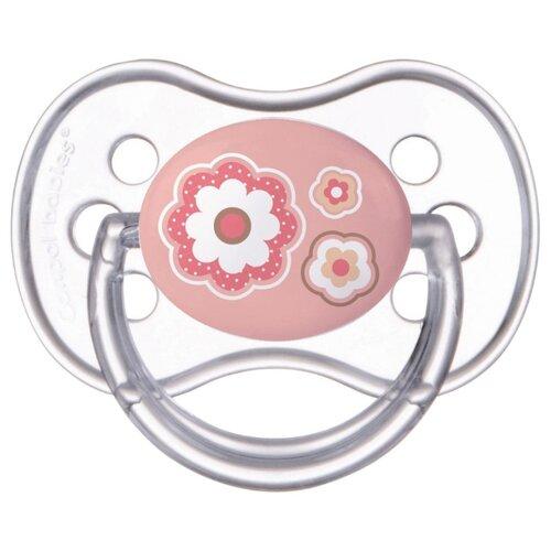Купить Пустышка силиконовая анатомическая Canpol Babies Newborn Baby 6-18 м (1 шт) розовый, Пустышки и аксессуары