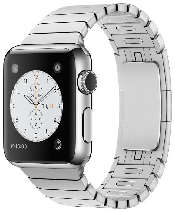 Умные часы APPLE Watch 38mm with Silver Link Bracelet MJ3E2RU/A