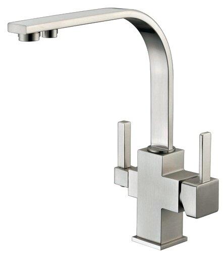Однорычажный смеситель для кухни (мойки) ZorG ZR 332-YF никель