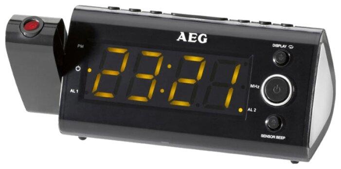 Радиоприемник Радиочасы AEG MRC 4121 P black Sensor