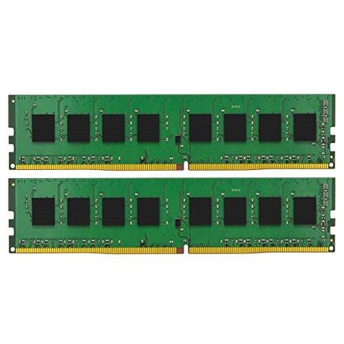 Оперативная память Kingston ValueRAM DDR4 2400 (PC 19200) DIMM 288 pin, 8 GB 2 шт. 1.2 В, CL 17, KVR24N17S8K2/16 оперативная память kingston valueram ddr4 2400 pc 19200 sodimm 260 pin 8 гб 1 шт 1 2 в cl 17 kvr24s17s8 8
