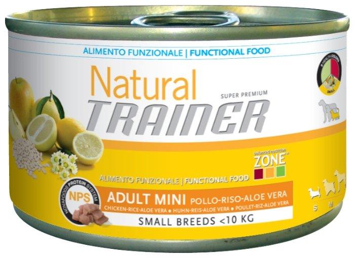 Корм для собак TRAINER Natural Adult Mini Chicken, Rice and Aloe Vera canned