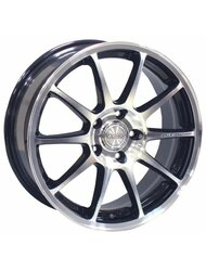 Диски Racing Wheels H-422 6,5x15 5x105 D56.6 ET35 цвет BK-LRD - фото 1