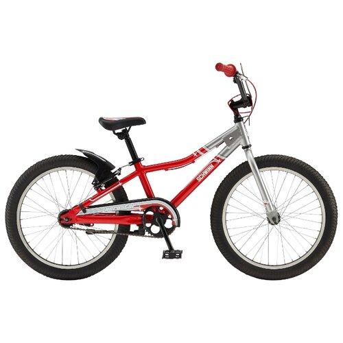 Подростковый городской велосипед Schwinn Aerostar (2016) серебристо-красный (требует финальной сборки)Велосипеды<br>