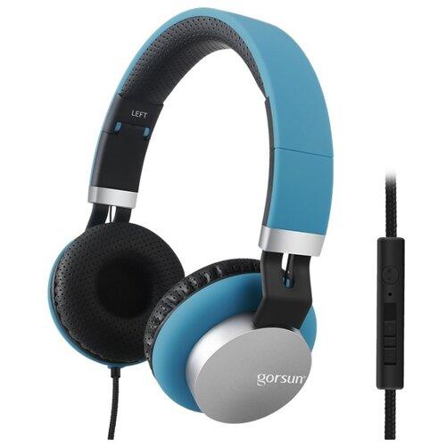 Наушники Gorsun GS-789 blue gorsun e87 black 09096