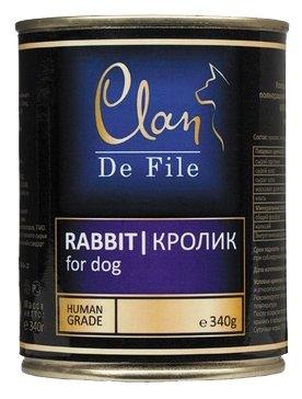 Корм для собак CLAN De File Кролик для собак (0.340 кг) 12 шт.