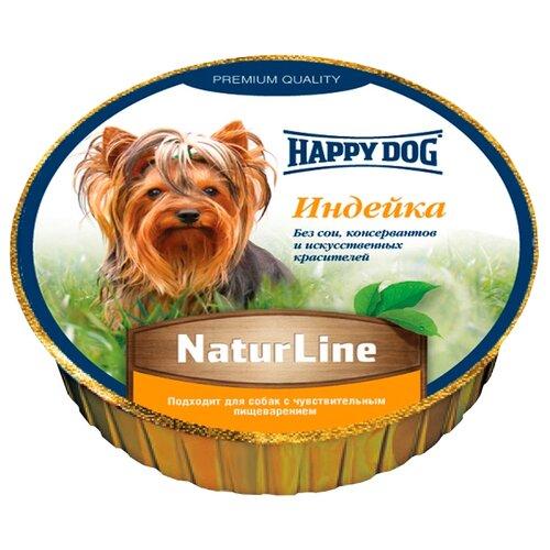 Корм для собак Happy Dog (0.085 кг) 11 шт. NaturLine Нежный паштет. ИндейкаКорма для собак<br>