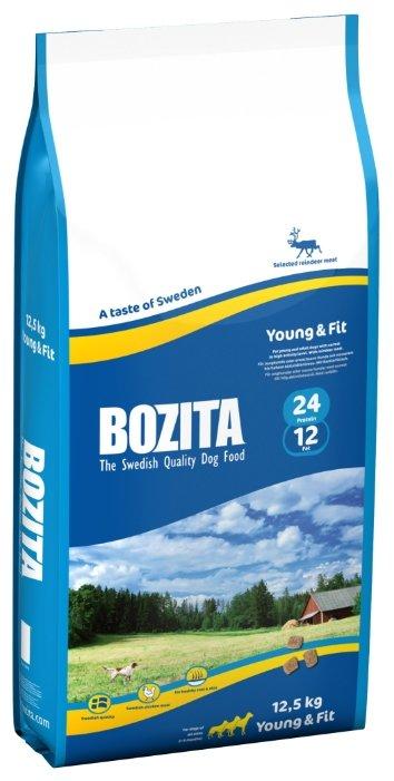 Корм для собак Bozita для здоровья кожи и шерсти, оленина 12.5 кг