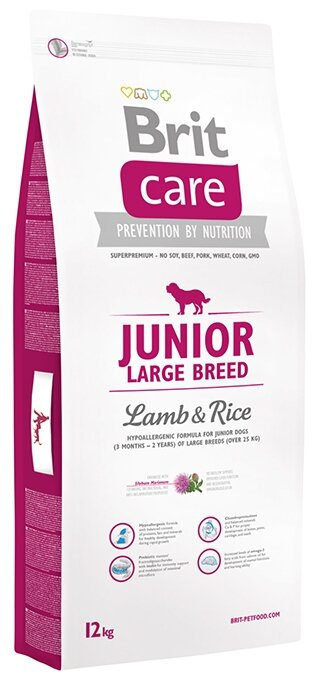 Корм для собак Brit Care Junior Large Breed Lamb & Rice