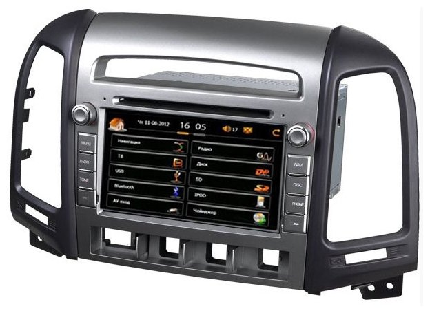 """Автомагнитола CarSys Windows CE Hyundai Santa Fe 7"""""""