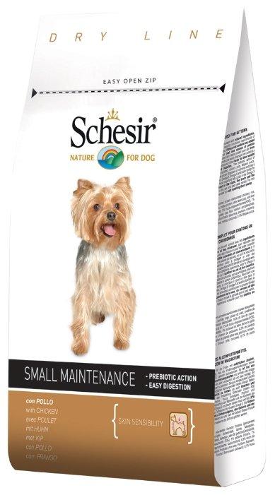 Корм для собак Schesir для здоровья кожи и шерсти, курица 800г (для мелких пород)