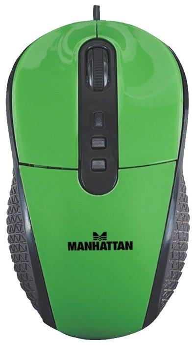 Мышь Manhattan RightTrack Mouse (177726) Green USB