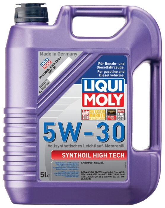 Моторное масло LIQUI MOLY Synthoil High Tech 5W-30 5 л