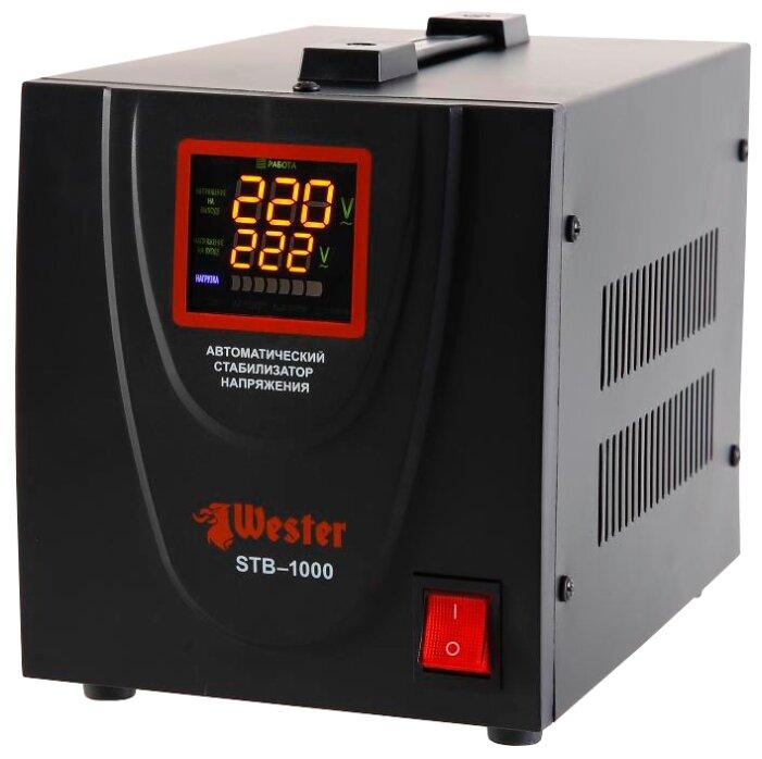 Стабилизатор напряжения однофазный Wester STB-1000 (0.8 кВт)
