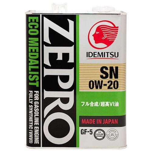 Моторное масло IDEMITSU Zepro Eco Medalist 0W-20 4 л моторное масло idemitsu zepro eco medalist 0w 20 1 л