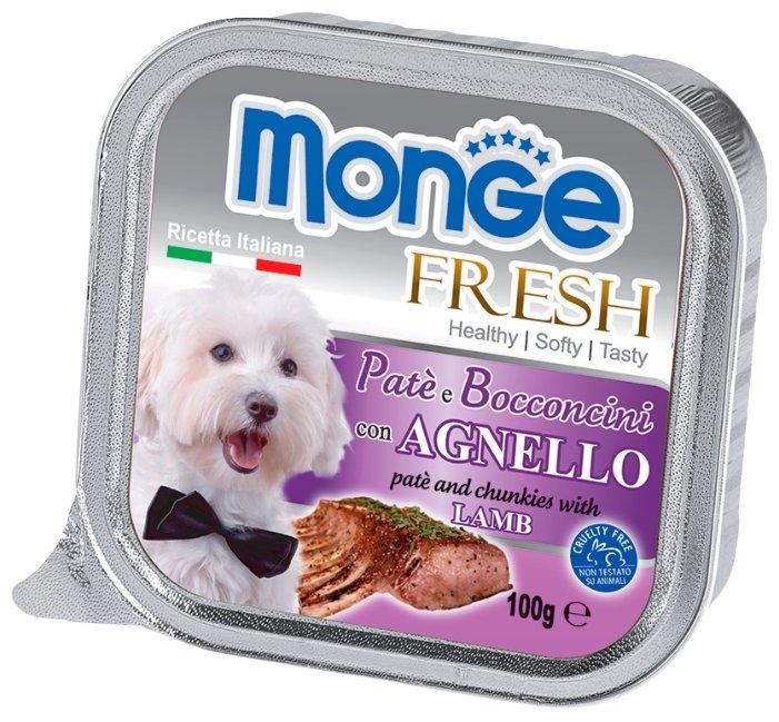 Корм для собак Monge Fresh ягненок 3шт. х 100г