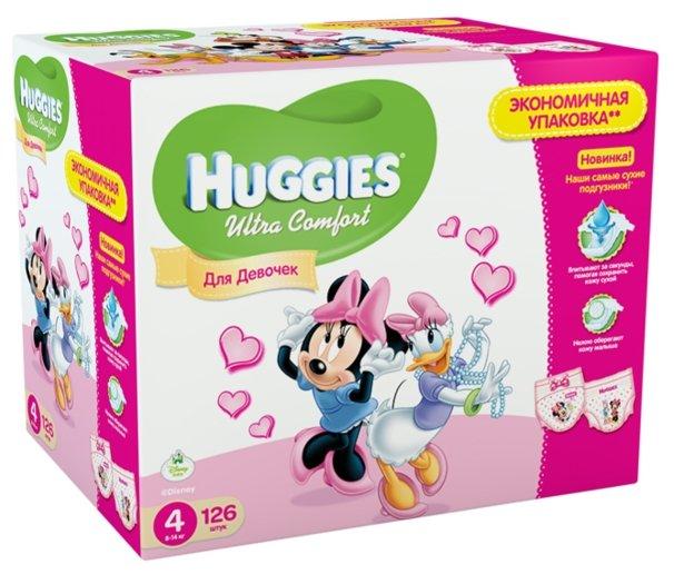 Huggies Ultra Comfort для девочек 4 (8-14 кг)