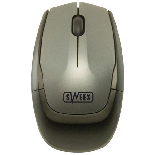 Мышь Sweex MI401 Notebook Wireless Optical Mouse Silver-Black USB