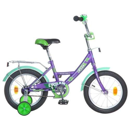Детский велосипед Novatrack Urban 14 (2016) фиолетовый (требует финальной сборки)