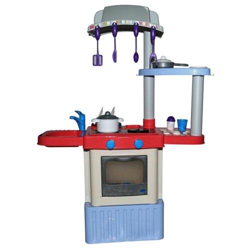цена на Кухня Palau Toys INFINITY premium №3 42354 красный/голубой/серый/бежевый