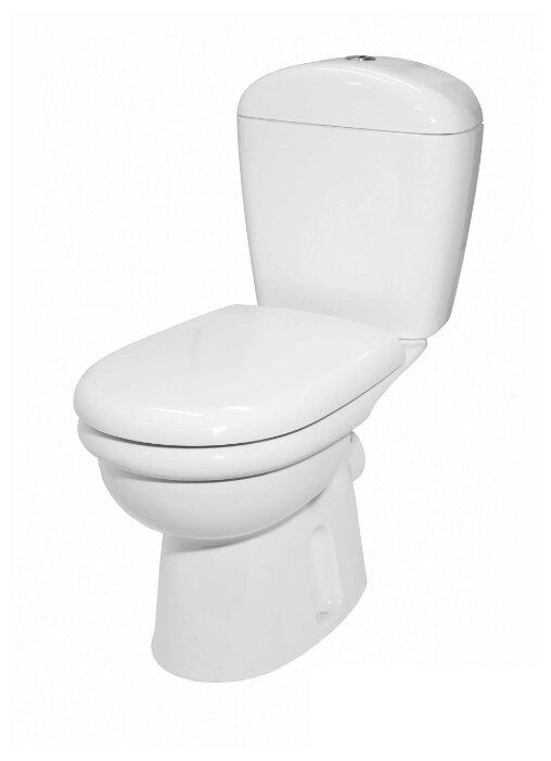 Унитаз с бачком напольный Керамин Верона (с жестким сиденьем) с горизонтальным выпуском