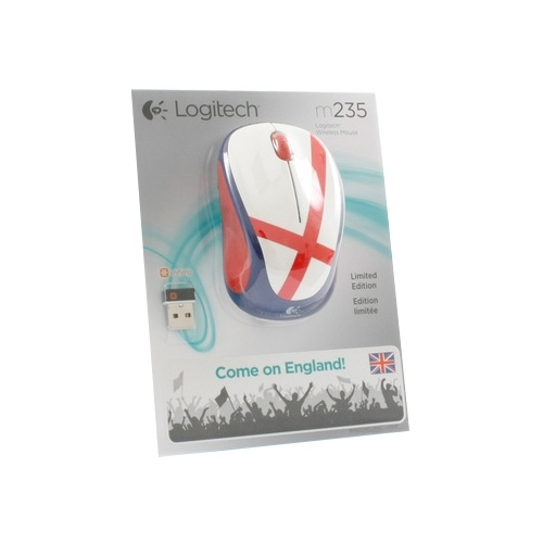 Мышь Logitech Wireless Mouse M235 910-004030 White-Blue-Red USB