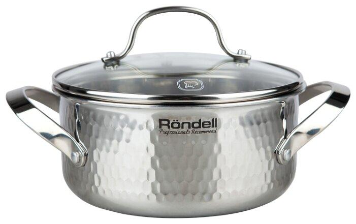 Кастрюля Rondell RainDrops 4,7 л, серебристый