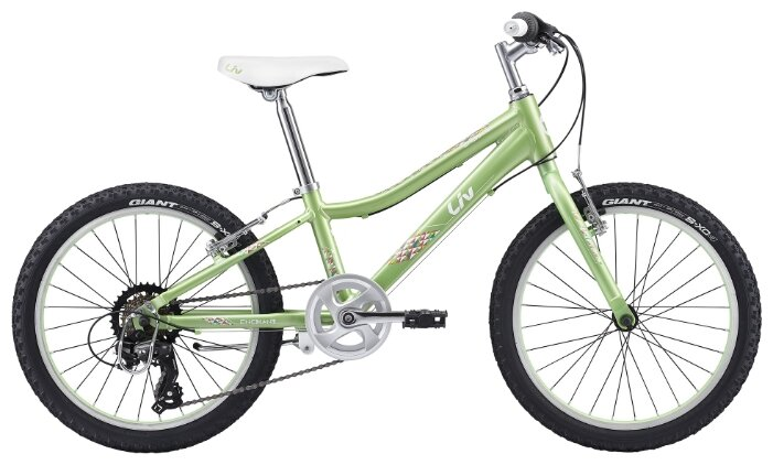 Детский велосипед Giant Enchant 20 Lite (2017), Цвет Зелено-белый, Размер рамы onesize