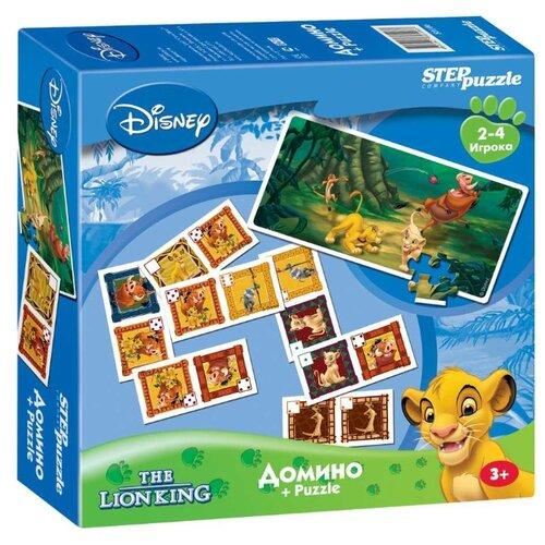 Настольная игра Step puzzle Домино Король Лев (Disney) настольная игра step puzzle домино disney тачки 80107