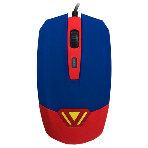 Мышь CBR CM 833 Superman Blue-Red USB