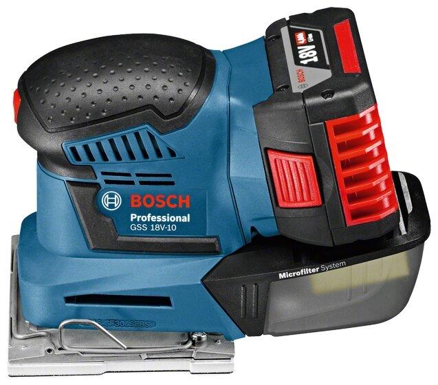 Плоскошлифовальная машина BOSCH GSS 18V-10 0 коробка