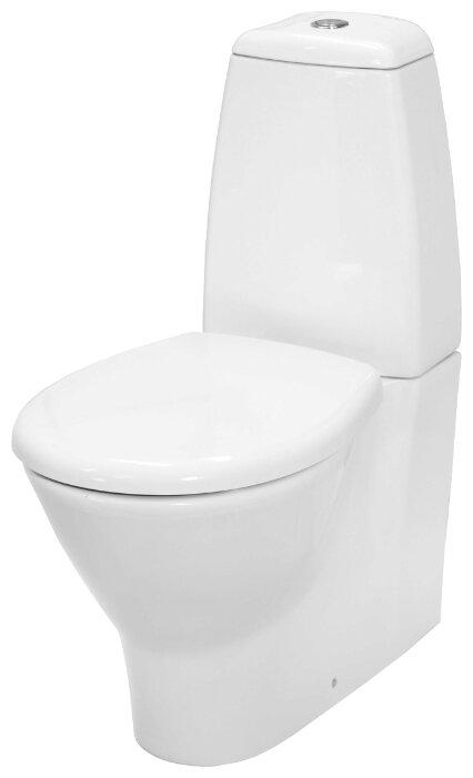 Унитаз с бачком напольный Керамин Арктик (с жестким сиденьем) с горизонтальным выпуском