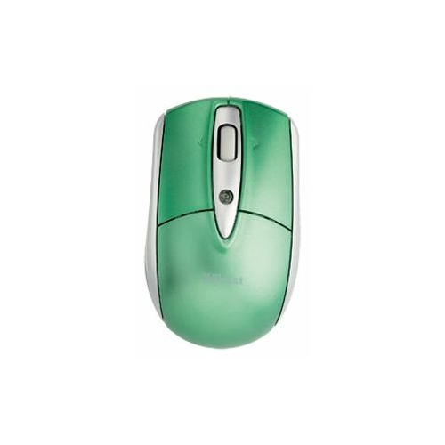Мышь Trust Retractable Laser Mini Mouse for Mac Windows PC Green USB