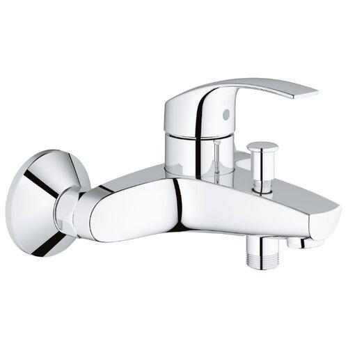 Смеситель для ванны с подключением душа Grohe Eurosmart 33300002 однорычажный смеситель grohe eurosmart 33300002