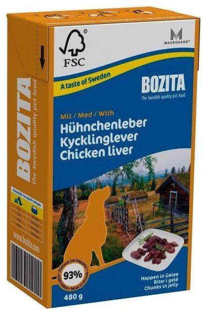 Корм для собак Bozita для здоровья кожи и шерсти, курица 480г